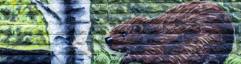beaver mural